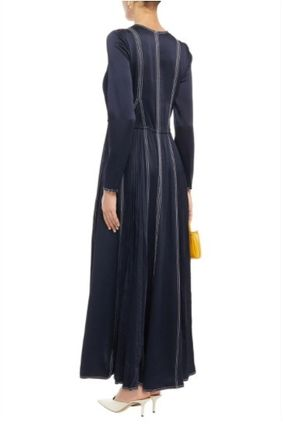 VALENTINO ワンピース [関税・送料込] VALENTINO☆Pleated satin-crepe maxi dress(4)