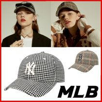 ◆MLB Korea◆HOUND TOOTH N-COVER BALL CAP 2Color◆正規品◆
