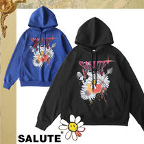 [SALUTE] WASHED FLOWER HOODIES 2色★フラワーフーディー