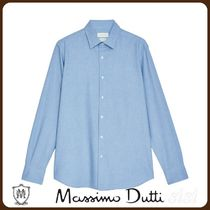 MassimoDutti♪SLIM FIT COTTON MELANGE SHIRT