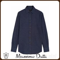 MassimoDutti♪SLIM FIT FADED DENIM SHIRT MADE OF 100% COTTON