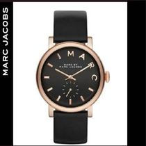 Marc by Marc Jacobs★ BAKER ブラックレザーウォッチ