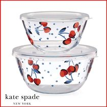 Kate Spade★ごはんを楽しくヴィンテージチェリー容器2点セット