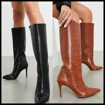 ASOS DESIGN Claudia knee high boots