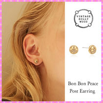 【VINTAGE HOLLYWOOD】Bon Bon Peace Post Earring〜ピアス