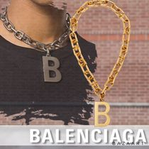 BALENCIAGA*B CHAIN NECKLACE ロゴ チェーン ネックレス