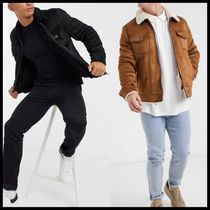 ASOS River Island borg lined western trucker jacket