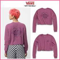 新作!! ◆VANS◆ BLACKOUT CROPPED LONG SLEEVE BOYFRIEND TEE