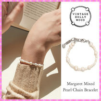 【VINTAGE HOLLYWOOD】Margaret Mixed Pearl Chain Bracelet