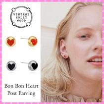 【VINTAGE HOLLYWOOD】Bon Bon Heart Post Earring〜ピアス