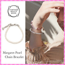 【VINTAGE HOLLYWOOD】Margaret Pearl Chain Bracelet〜秋コレ