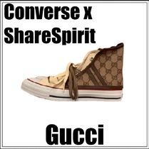 CONVERSE×SHARE SPIRIT★GUCCI レザー製 シューズカバー