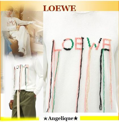 LOEWE★Loose-stitch logo-embroidered sweater*BTS V着用**
