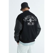 [ LMC ] LMC TEAM VARSITY JACKET (Black)