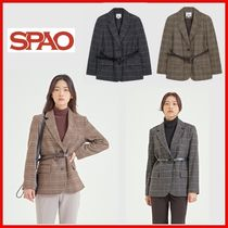 ◆SPAO◆ウールベルトセットジャケット 2Color◆正規品◆