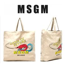 【SALE】CUTE★MSGM★Lobster★リネン エコバッグ★限定1点