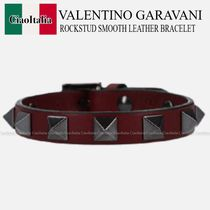 VALENTINO GARAVANI ROCKSTUD SMOOTH LEATHER BRACELET