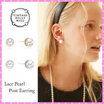 【VINTAGE HOLLYWOOD】Lace Pearl Post Earring〜ピアス★秋コレ