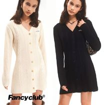 NASTY FANCY CLUB★ BUTTON KNIT ONE-PIECE 2色
