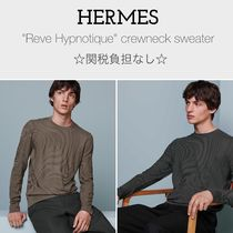 "関税負担なし☆HERMES☆ ""Reve Hypnotique"" crewneck sweater"