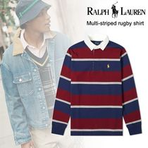 洒落感抜群◆POLO RALPH LAUREN◆Multi-striped rugby shirt