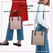 【国内発送】spade flower medium north south toteセール
