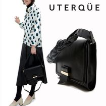 【Uterque】LEATHER BAG WITH BRAIDED HANDLE