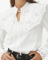 """""""ARKET"""" Embroidered Wide Collar Blouse White"""