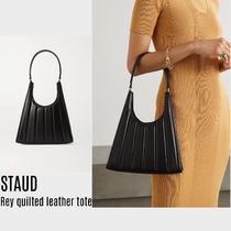 {STAUD} Rey quilted leather tote 送料関税込