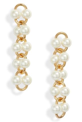 kate spade new york ピアス 国内 Kate Spade Nouveau pearls linear earrings パールピアス(4)