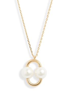 kate spade new york ネックレス・ペンダント 国内Kate Spade Nouveau Pearls Pendant ダブルパールネックレス(4)