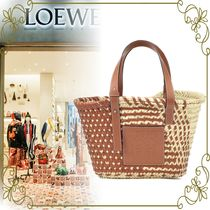 【LOEWE 数量限定SALE!!】leather trimmed basket tote