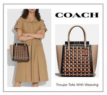 Sale!【COACH】Troupe Tote With Weaving☆