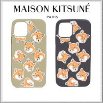 【関送込】MAISON KITSUNE☆All OverFoxHead iPhone11/Proケース