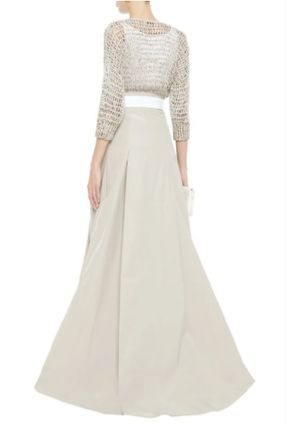 BRUNELLO CUCINELLI ワンピース BRUNELLO CUCINELLI☆Embellished open knit-paneled maxi dress(4)