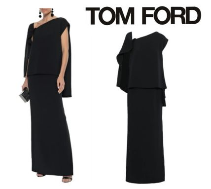 TOM FORD ワンピースその他 関税・送込 TOM FORD☆Layered lace-up stretch-silk ponte gown