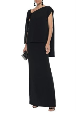 TOM FORD ワンピースその他 関税・送込 TOM FORD☆Layered lace-up stretch-silk ponte gown(3)