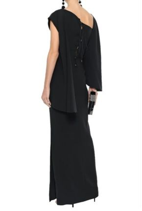 TOM FORD ワンピースその他 関税・送込 TOM FORD☆Layered lace-up stretch-silk ponte gown(4)