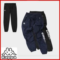 ◆Kappa◆Big Lettering Jogger Pants Black/Navy◆正規品◆