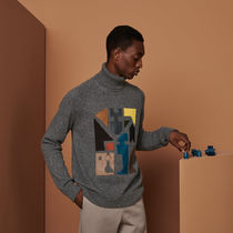 """Hermes エルメス""""Mix and Match"""" turtleneck sweater"""