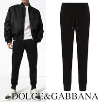 DOLCE&GABBANA Jersey jogging pants with branded plate