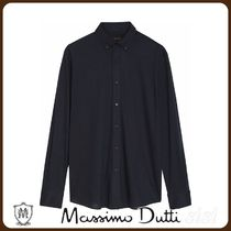 MassimoDutti♪100% COTTON STRETCH TWILL SLIM FIT SHIRT