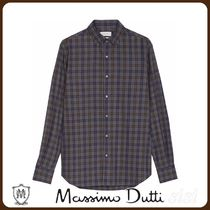 MassimoDutti♪SLIM FIT TWO-COLOUR CHECK 100% COTTON SHIRT