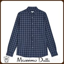 MassimoDutti♪REGULAR FIT 100% COTTON CHECK SHIRT