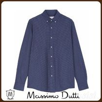 MassimoDutti♪SLIM FIT HOUNDSTOOTH SHIRT MADE OF 100% COTTON