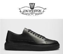 J.M. WESTON★BASKET ON TIME CANASTA★レザースニーカー