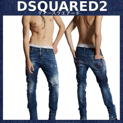 【DSQUARED2】Medium Multi Ripped Wash Cool Guy