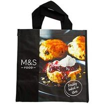 Marks&Spencer(マークスアンドスペンサー) エコバッグ UK発☆Marks and Spencerスコーンとバゲットの柄エコバッグ