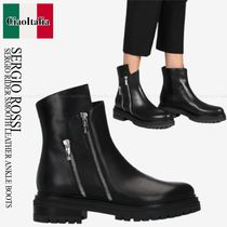 SERGIO ROSSI  SERGIO RIDER SMOOTH LEATHER ANKLE BOOTS