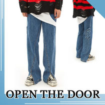 OPEN THE DOOR★MEN'S UNIQUE LINE CROP PANTS